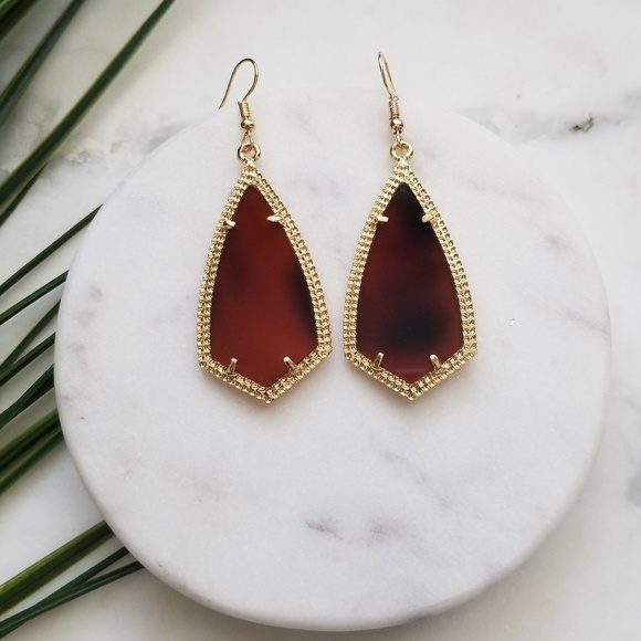 Jewelry - 5 for $25 Gold and Tortoise Geometric Earrings